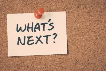 Post-it with question: what's next?